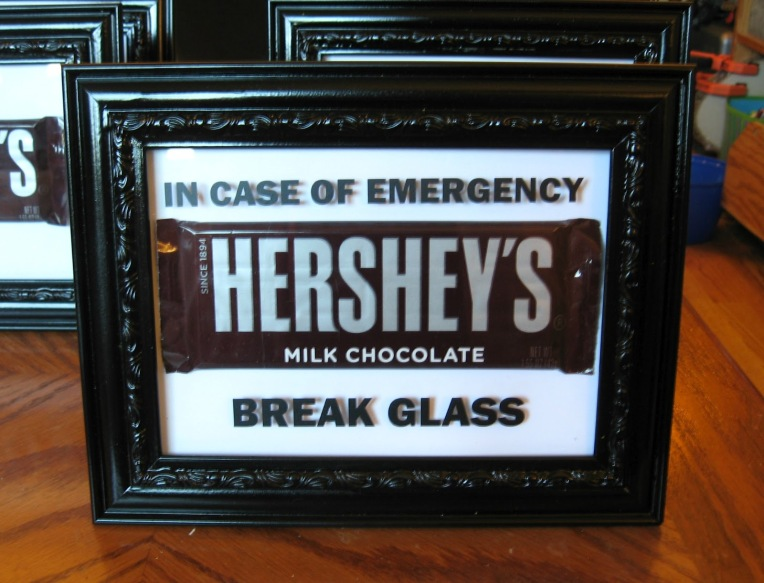 In case of emergency chocolate