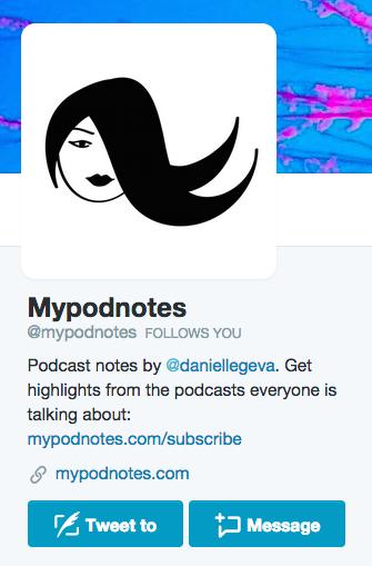 mypodnotes twitter bio