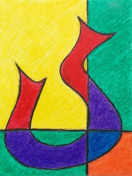Decanter 1 Oil Pastel Original