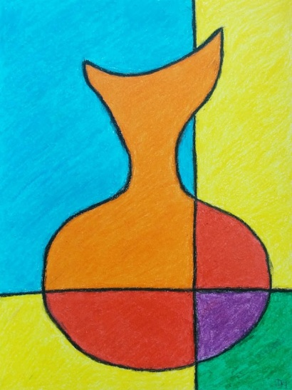 Decanter 2 Oil Pastel Artwork