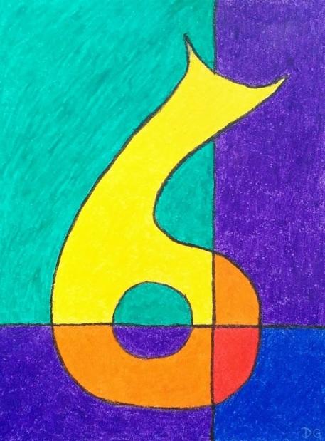 Decanter 3 Oil Pastel Artwork