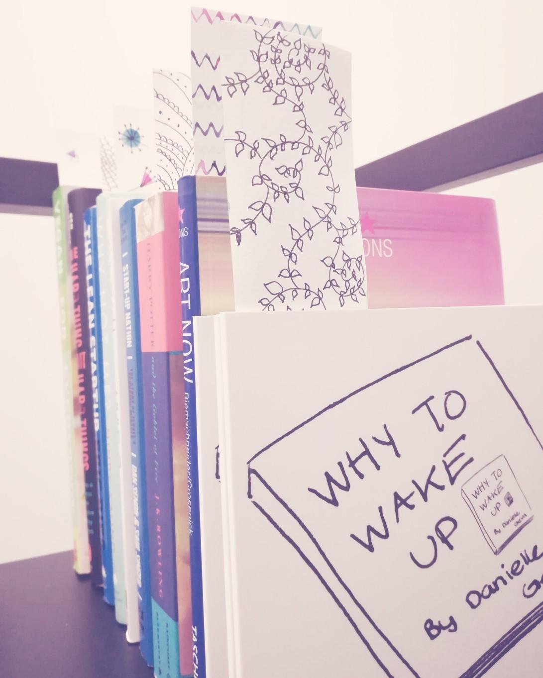 Why to Wake Up Bookmarks Art Danielle Geva