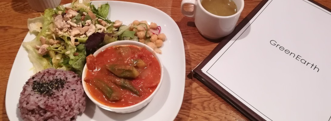 Lunch at Green Earth in Osaka
