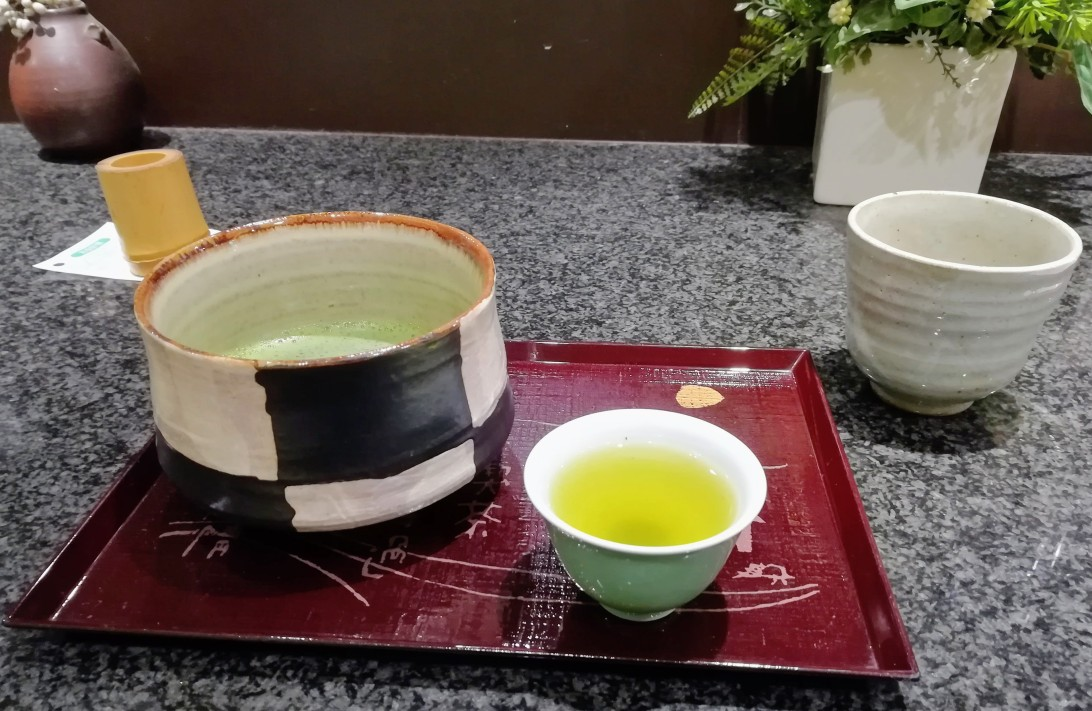 First taste of matcha in Shinsaibashi