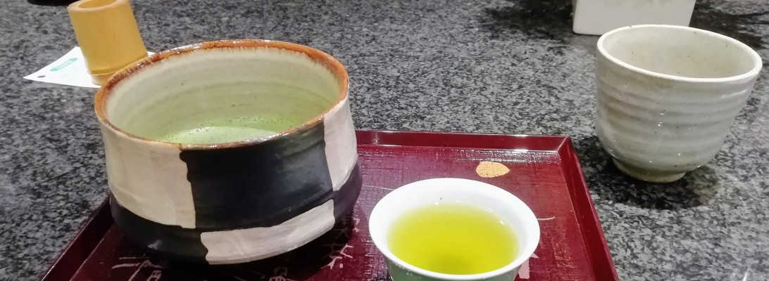 First taste of matcha in Shinsaibashi